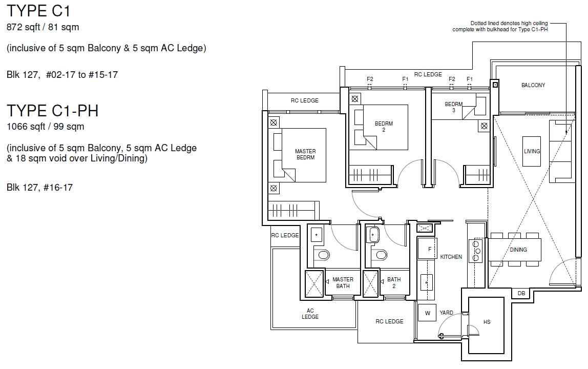 Parc Central Residences floor plan 3 bedroom Deluxe