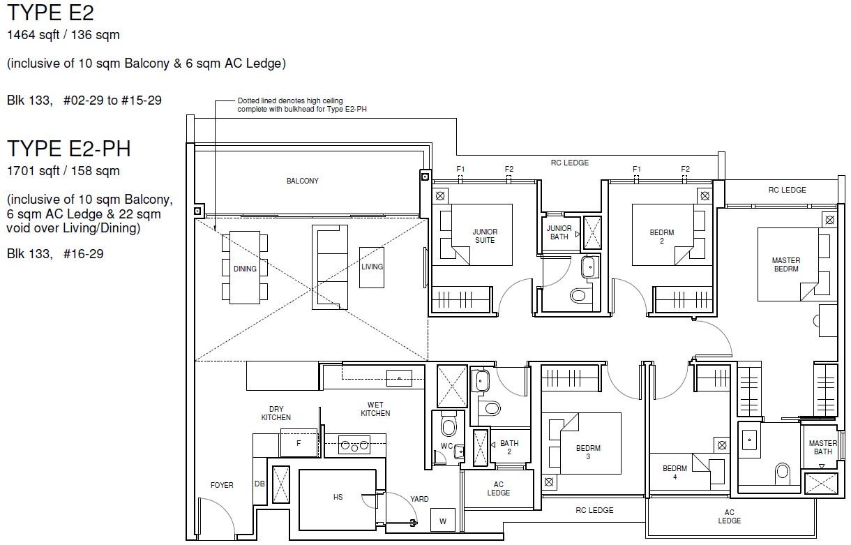 Parc Central Residences floor plan 5 bedroom Luxury